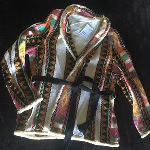 H&M Multicolored Folklore Blazer Jacket with Belt